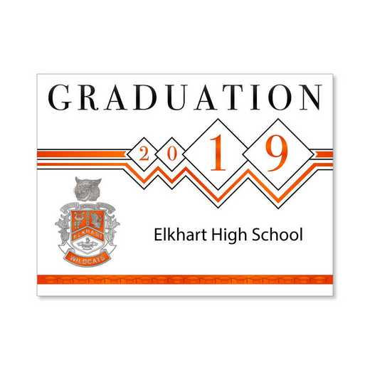 Elkhart High Traditional Personalized Announcement