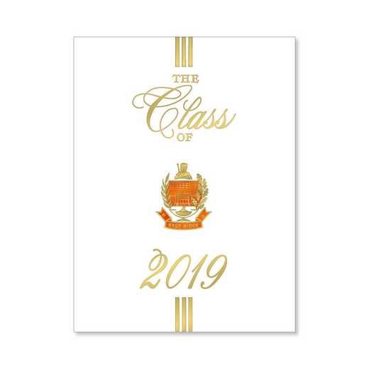 East Ridge High Traditional Personalized Announcement