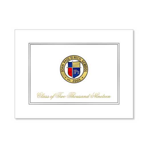 John Paul II High School Traditional Personalized Announcement