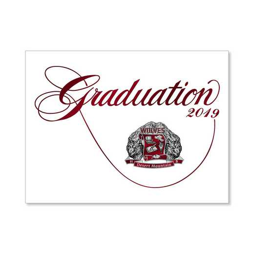 Desert Mountain High Traditional Personalized Announcement