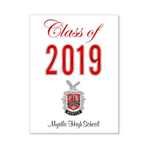 Myrtle High Traditional Personalized Announcement