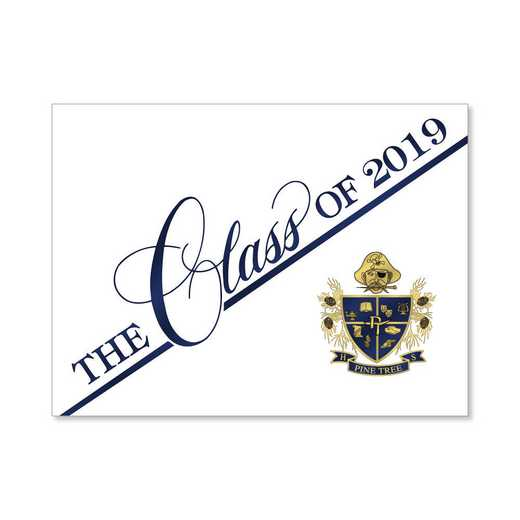 Pine Tree High Traditional Personalized Announcement