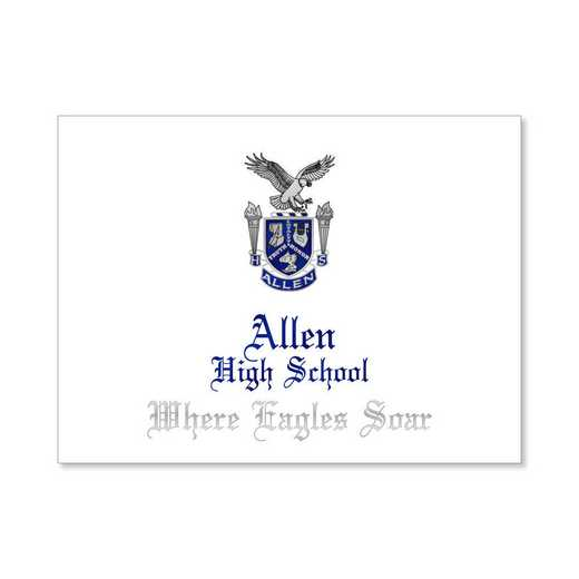 Allen High Traditional Personalized Announcement