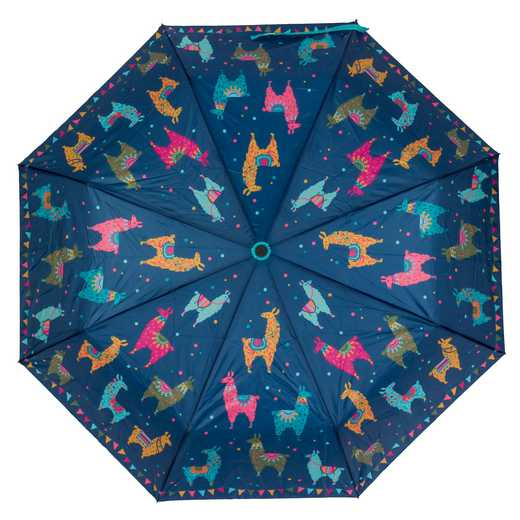KA301813: Karma Travel  Umbrellas Blue Llama
