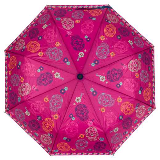 KA301829: Karma Travel  Umbrellas Pink Skulls