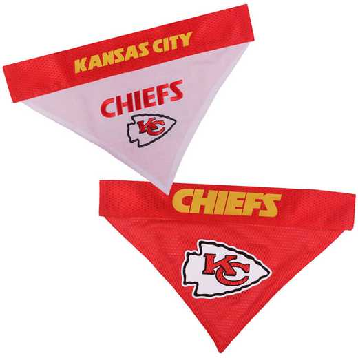 KANSAS CITY CHIEFS Reversible Pet Bandana