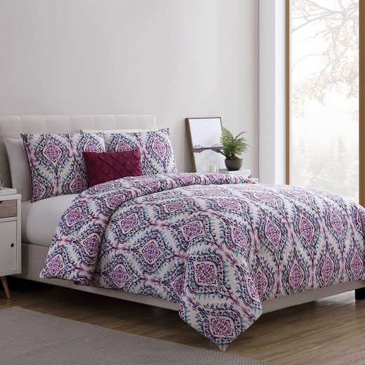 VCNY Home Lyndon Duvet Set - Purple