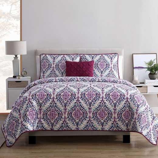 VCNY Home Lyndon Quilt Set-Purple