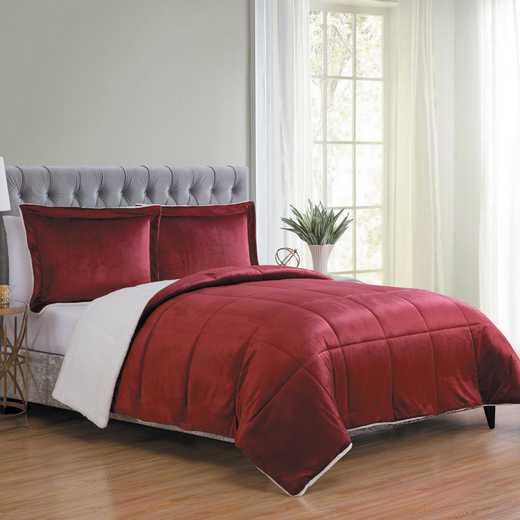 VCNY Home Micro Mink Sherpa Comforter Set - Red