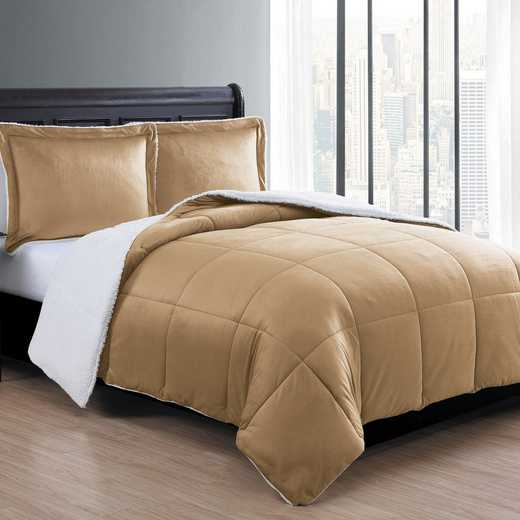 VCNY Home Micro Mink Sherpa Comforter Set -Taupe
