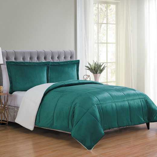 VCNY Home Micro Mink Sherpa Comforter Set-Teal