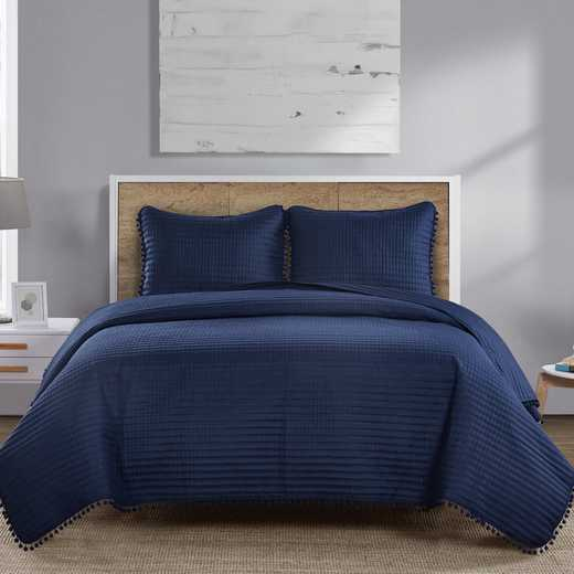 VCNY Home Pom Pom Quilt Set-Navy