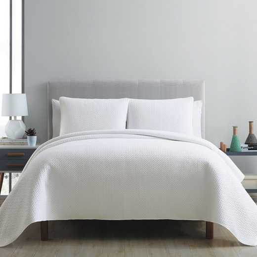 VCNY Home Waffle Pinsonic Quilt Set-White