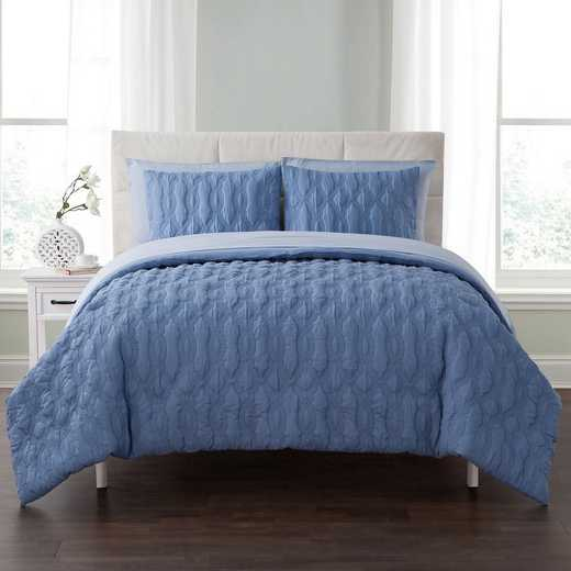 VCNY Home Linx Embossed Bed In A Bag Comforter Blue