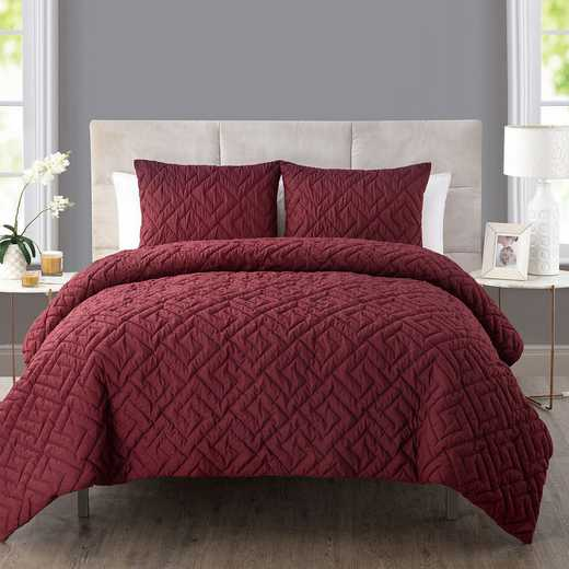 VCNY Home Home Artemis Embossed Down Alt Comforter Set Burgundy