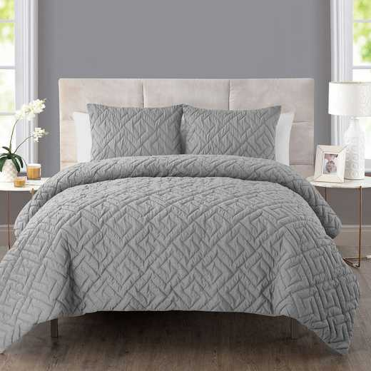 VCNY Home Artemis Embossed Down Alt Comforter Set Grey