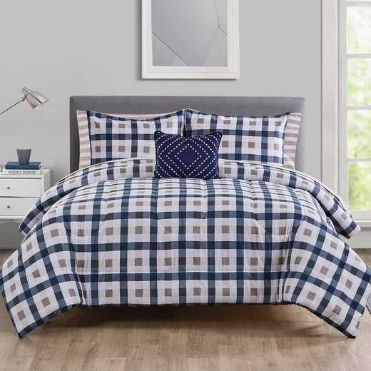 VCNY Home Belmar Bed in a Bag Comforter Set Navy/White