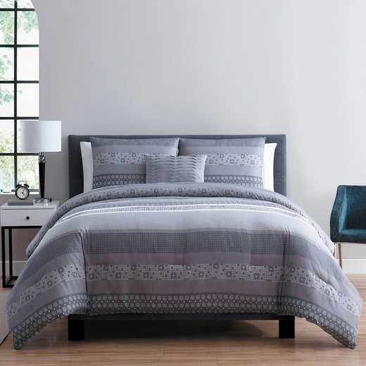 VCNY Home Casper Comforter Set Grey