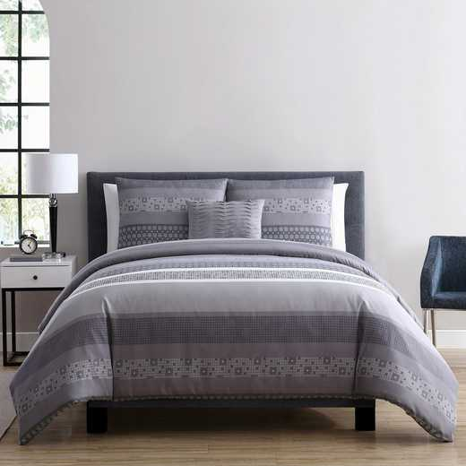 VCNY Home Casper Duvet Set Grey
