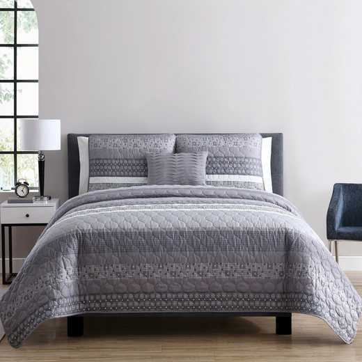 VCNY Home Casper Quilt Set Grey