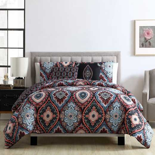 VCNY Home Coria Reversible Duvet Set Burgundy/Blue