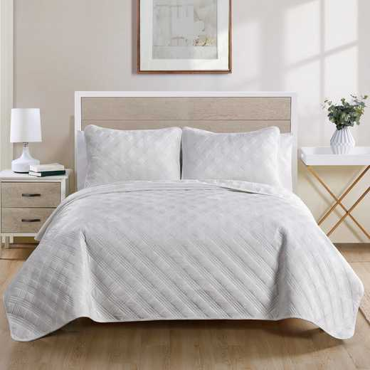 VCNY Home Diana Quilt Set White