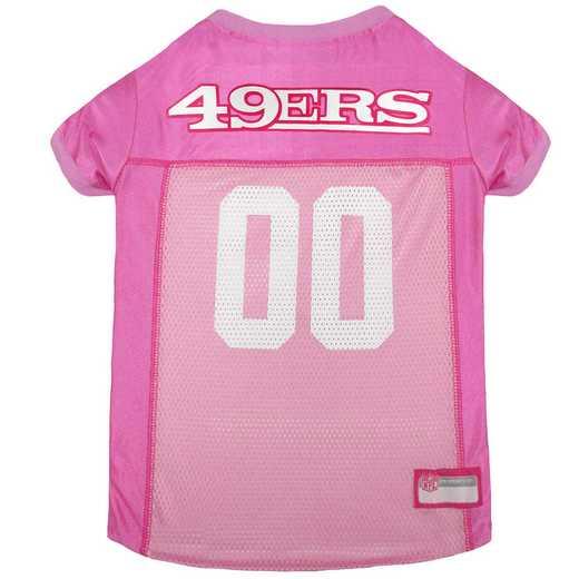 SAN FRANCISCO 49ERS Pink Pet Jersey