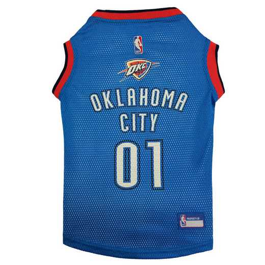 OKC THUNDER Mesh Basketball Pet Jersey