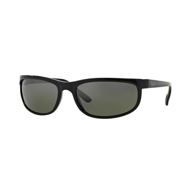 0RB2027601W162: Polarized Predator 2 Sunglasses - Black & Grey
