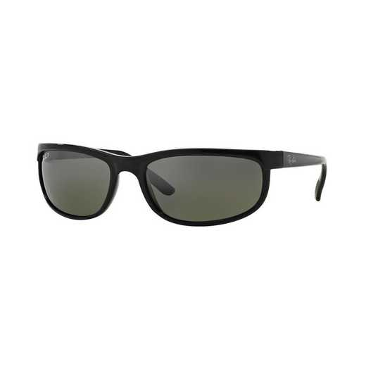 0RB2027601W162: Polarized Predator 2 Sunglasses - Black & Grey