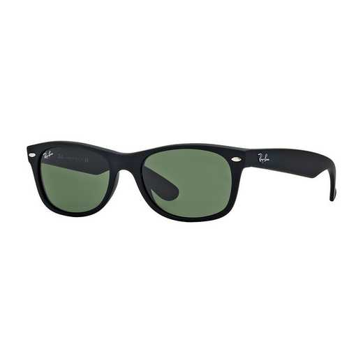 0RB213262252: New Wayfarer Sunglasses - Black Matte & Green