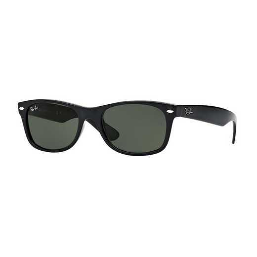 0RB213290152: New Wayfarer Sunglasses - Black & Green