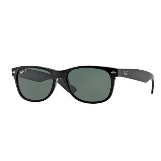 0RB21329015855: Polarized New Wayfarer Sunglasses - Black & Green
