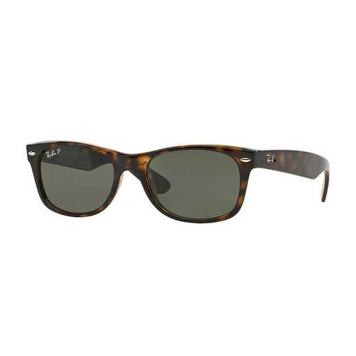 0RB21329025855: Polarized New Wayfarer Sunglasses - Tortoise & Green