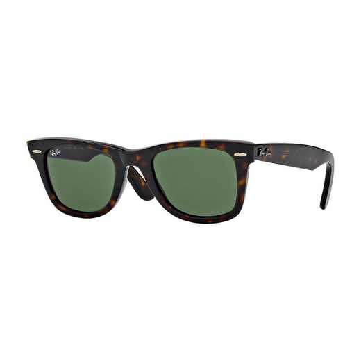0RB214090250: Wayfarer Sunglasses - Tortoise & Green