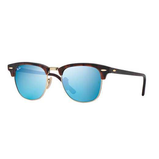 0RB301611451751: Clubmaster Flash Lens Classic Sunglasses - Blue
