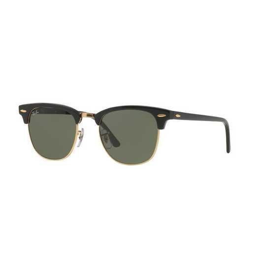 0RB3016W036551: Clubmaster Sunglasses - Black
