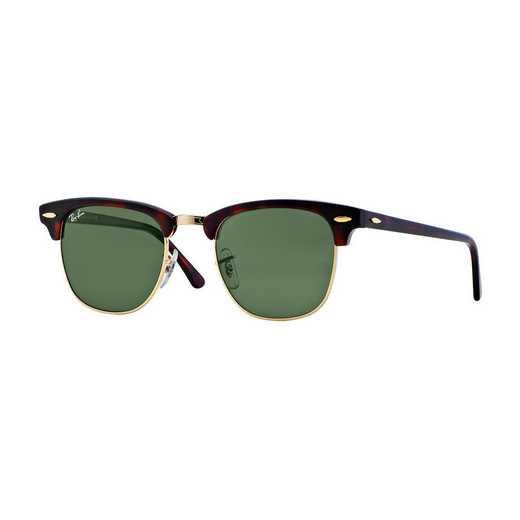 0RB3016W036651: Clubmaster Sunglasses - Dark Tortoise
