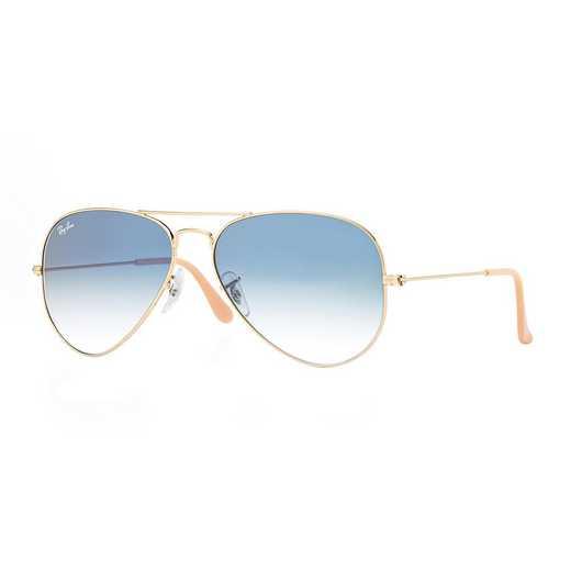 0RB30250013F58: Aviator Sunglasses - Blue Gradient