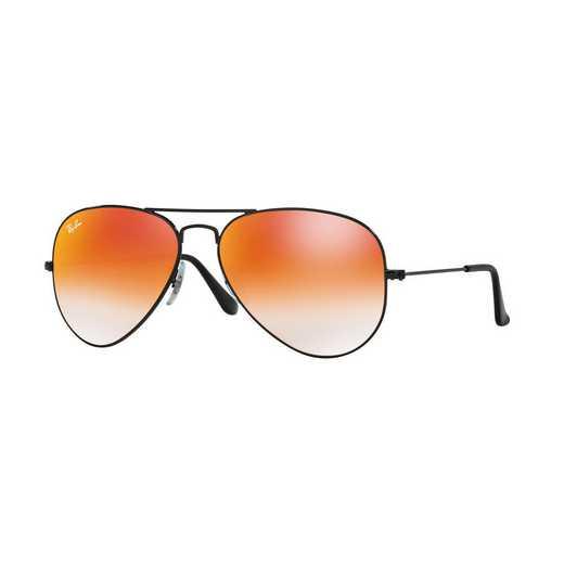 0RB30250024W: Aviator Sunglasses - Black & Orange Gradient