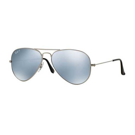 0RB3025019W358: Polarized Aviator Sunglasses - Silver