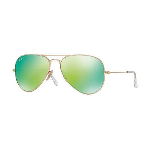 0RB30251121958: Aviator Sunglasses - Green Flash Lenses