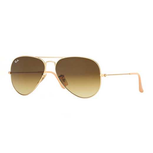0RB30251128558: Aviator Sunglasses - Gold & Brown