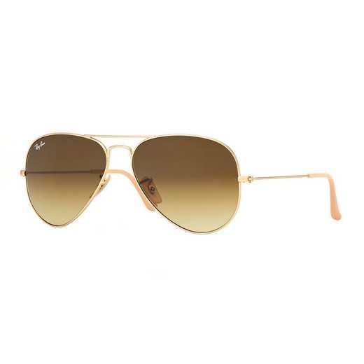 0RB30251128558: Aviator Sunglasses - Gold & Brown
