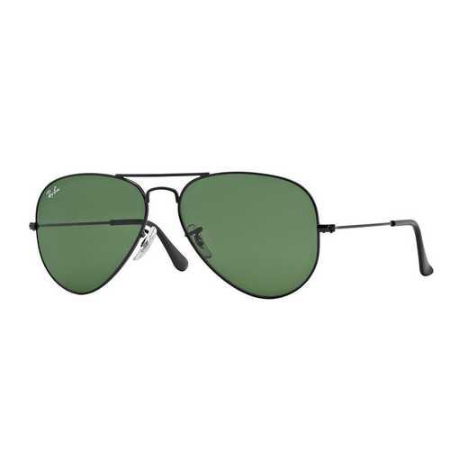 0RB3025L282358: Aviator Sunglasses - Black