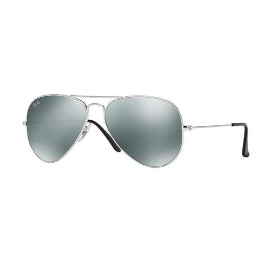 0RB3025W327758: Aviator Sunglasses - Silver Mirror