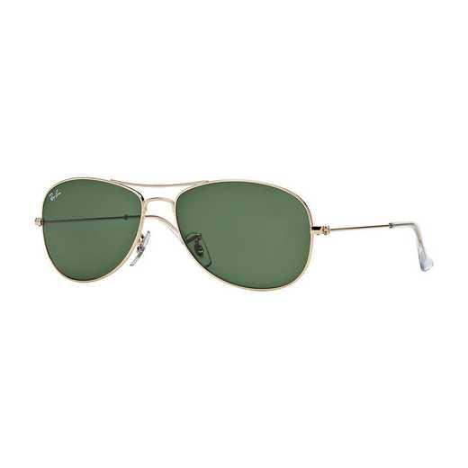 0RB336200159: Cockpit Sunglasses - Gold & Green