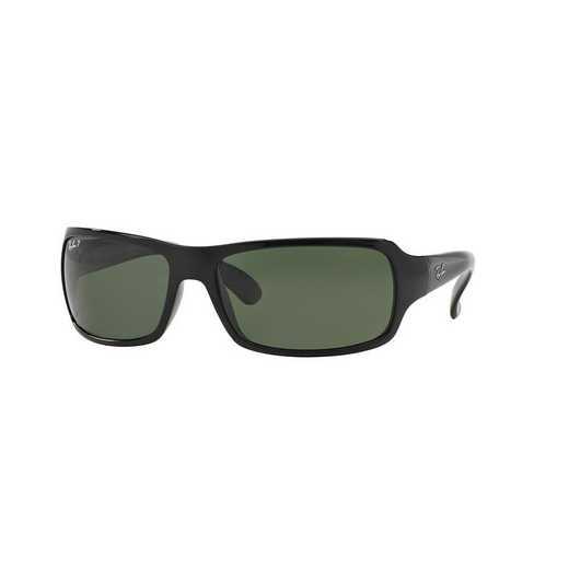 0RB40756015861: Polarized RB4075 Sunglasses - Black