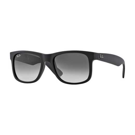0RB41656018G55: Justin Sunglasses - Black Gradient