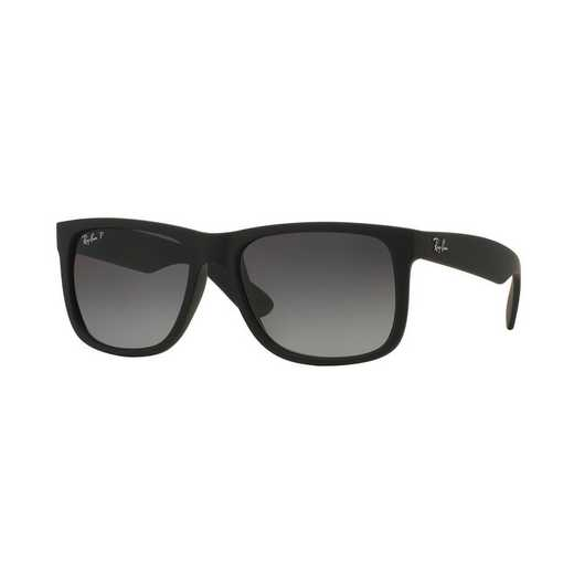 0RB4165622T355: Polarized Justin Classic Sunglasses - Black &  Grey Gradient